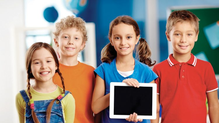 TABLETS ARE ON THEIR WAY INTO CLASSROOMS