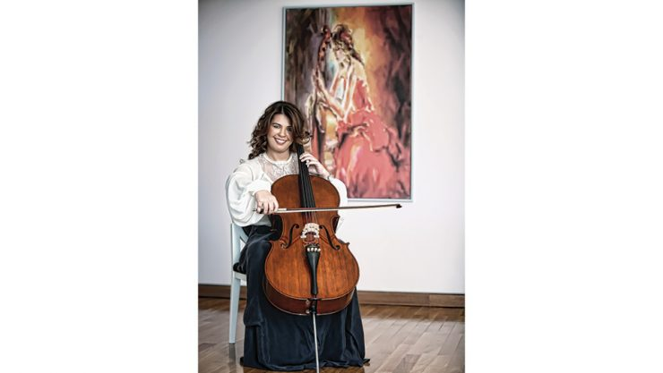 SHE DISCIPLINES HER SPIRIT BY PLAYING CELLO