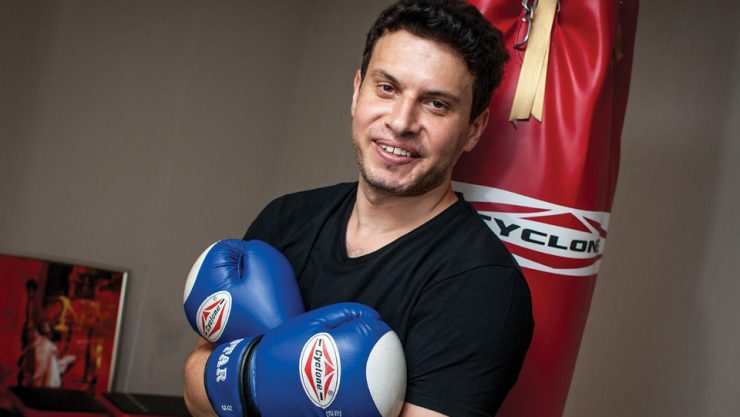 FINDS PEACE IN KICKBOXING