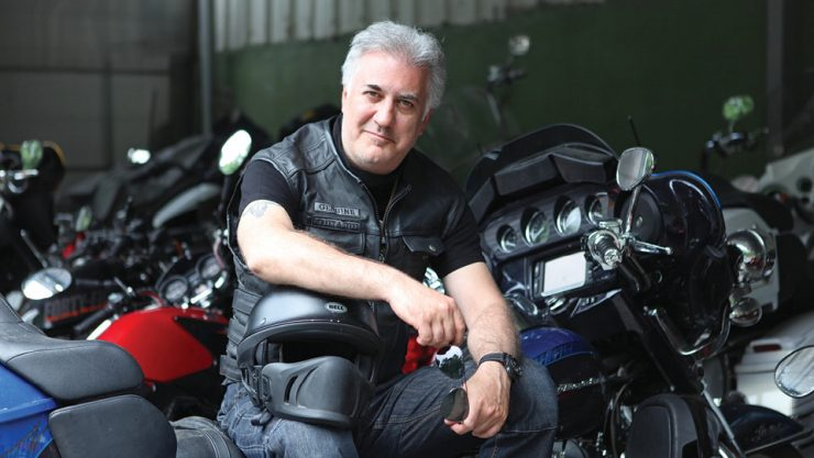 AN ACTOR WHO IS A HUGE HARLEY FAN: TAMER KARADAĞLI