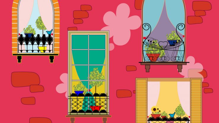 THE SEASON TO DECORATE BALCONIES AND GARDENS
