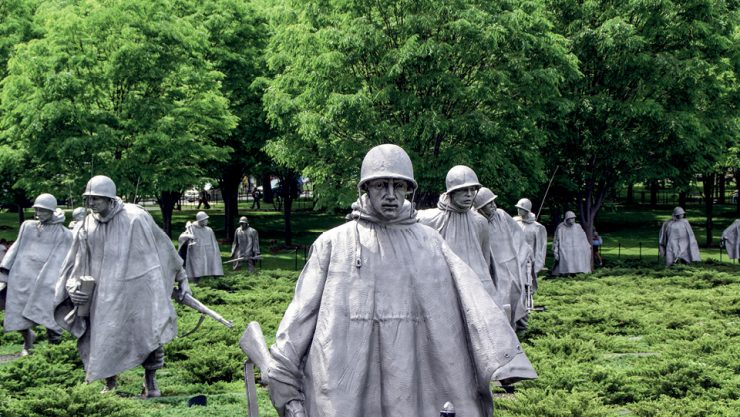 WASHINGTON DC AND THE KOREAN WAR VETERANS MEMORIAL