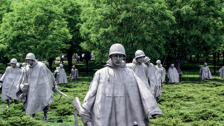 WASHINGTON DC AND THE KOREAN WAR VETERANS MEMORIAL