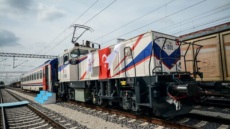 OUR FIRST ONE HUNDRED PERCENT DOMESTIC ELECTRIC LOCOMOTIVE IS ON RAILS