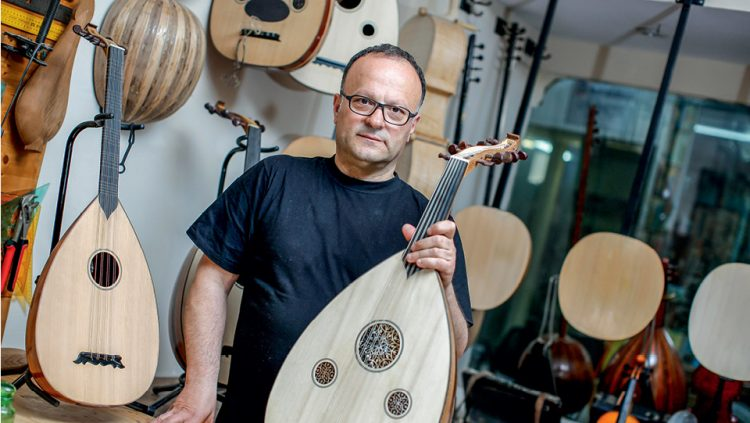 HE MAKES INSTRUMENTS FOR FAMOUS MUSICIANS