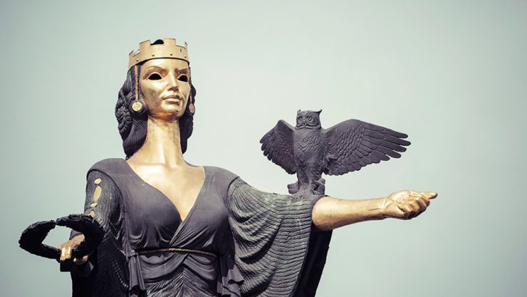 SOPHIA AND THE STATUE OF ST. SOPHIA