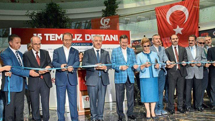 THE 15TH OF JULY PHOTOGRAPH EXHIBITION IS OPENED IN THE ANKARA YHT TERMINAL
