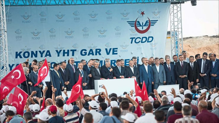 THE FOUNDATION OF KONYA YHT TERMINAL AND LOGISTICS CENTER  WAS LAID BY PRIME MINISTER YILDIRIM