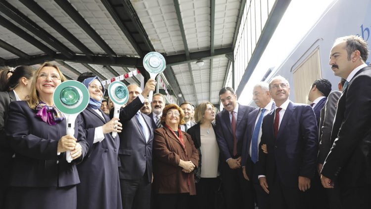 The Social Cooperation Train Was Seen Off At The Ankara Terminal