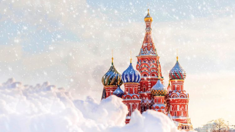 Moscow and The St. Basil's Cathedral