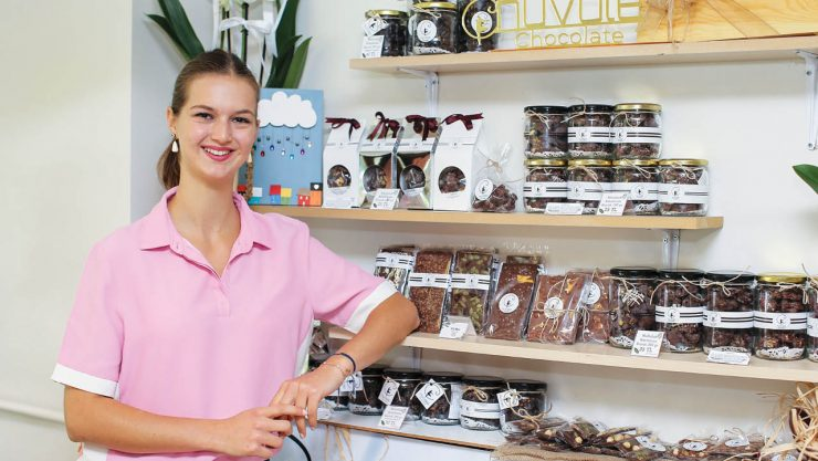 She Produces Art and Health Out of Chocolate
